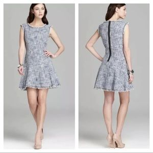 Rebecca Taylor frayed tweed dress